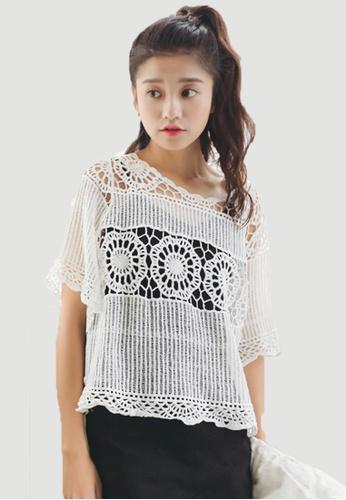 Shopsfashion white Knitted Blouse in White SH656AA0FJVFSG_1