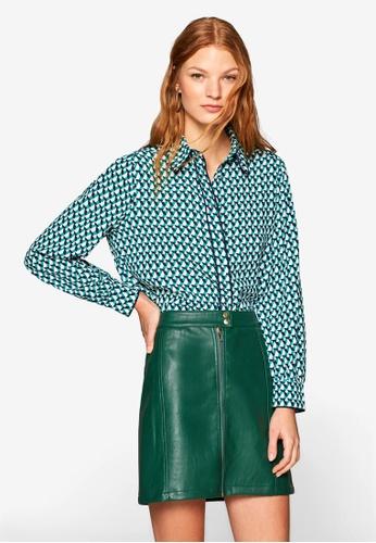 ESPRIT green Woven Long Sleeve Blouse EA002AA43DEAB0GS_1