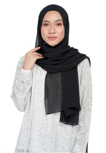 KASHKHA black Chiffon diamante shawl-BLACK ED229AA300088DGS_1
