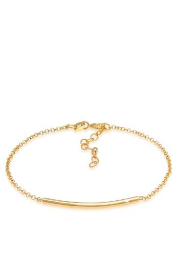 ELLI GERMANY gold Geo Look Minimal Gold Plated Bracelet 2D3E4AC06D70D0GS_1