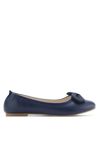 ZALORA blue Bow Ballerinas 64CBFSHF2E718BGS_1