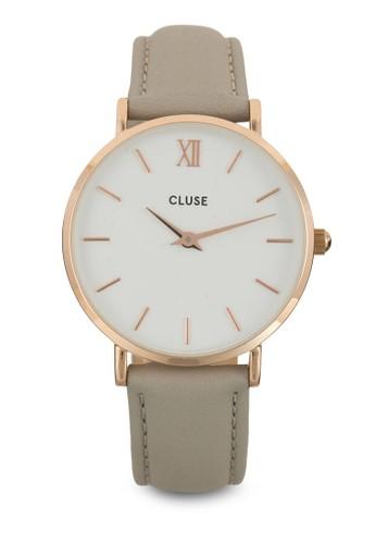 Minuit 經典真皮圓裱, 錶類, esprit童裝門市皮革錶帶