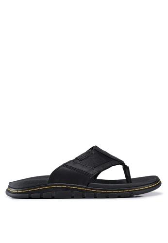 Dr. Martens black Athens Slide Sandals 06AE4SH6390875GS_1