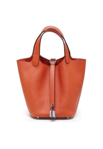 Twenty Eight Shoes orange VANSA Simple Leather Bucket Hand Bag VBW-Hb928700S 18B35ACC8A959BGS_1