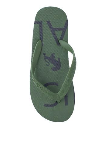 BENCH green Basic Rubber Slippers BE550SH91LUEPH_1