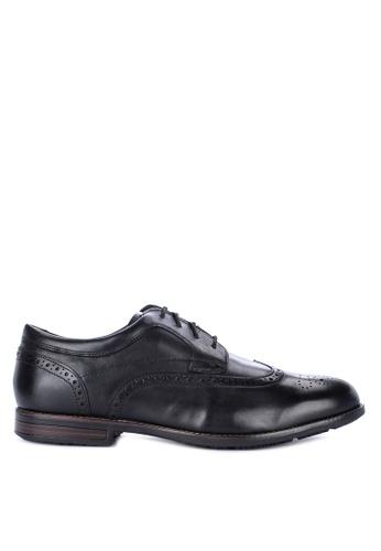 Rockport black Dustyn Wingtip Dress Shoes A2BCFSH3B9C43BGS_1