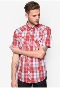 Fidelio Western Cut Checkered Short Sleeves Shirt