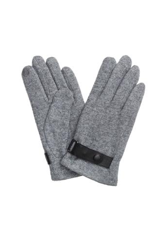 Universal Traveller grey Universal Traveller Wool Gloves - GV 9093 4D5D6AC4322F50GS_1