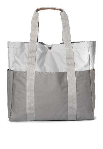 Taikan grey Sherpa Tote Bag TA253AC0JOB8PH_1