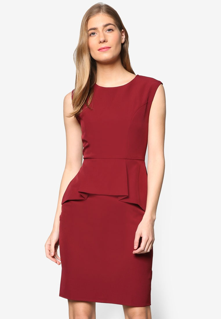 Collection Handerchief Peplum Dress