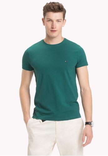 Tommy Hilfiger green STRETCH SLIM FIT TEE E18AEAAC621E56GS_1