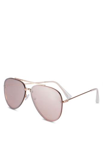 Rubi pink Ariana Aviator Sunglasses 9057EGLD7B28ADGS_1