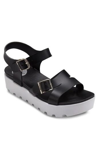 扣環帶厚底果凍涼鞋, esprit hong kong女鞋, 鞋