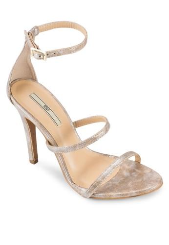 鏤zalora 順豐空繞踝繫帶高跟涼鞋, 女鞋, 細帶高跟鞋