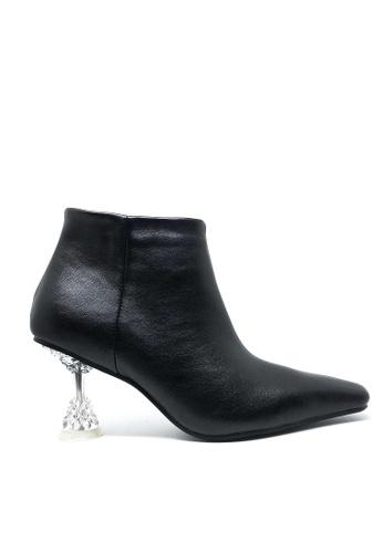 Twenty Eight Shoes 黑色 透明踭仿皮踝靴638 25E92SHB325214GS_1