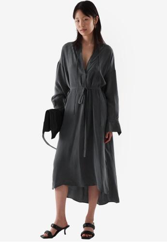 Cos grey Kaftan Dress 4831DAAC4D416DGS_1