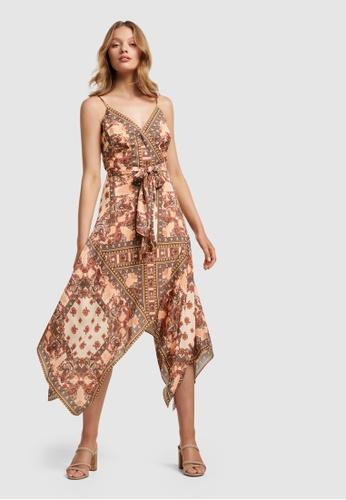Forever New Renata Wrap Hanky Hem Dress 0A795AAA926B15GS_1
