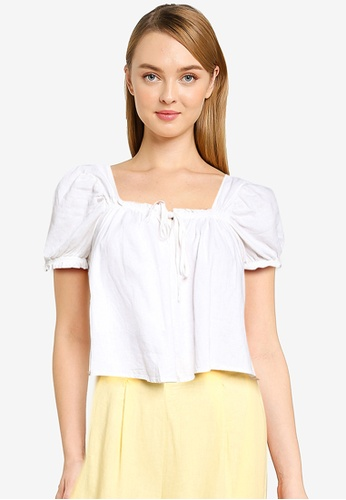 Cotton On white Babydoll Blouse 3C6C5AAC993218GS_1