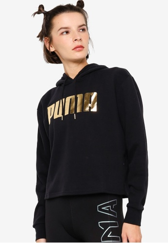 PUMA black Holiday Pack Graphic Long Sleeve Women's Hoodie 335E5AA022F783GS_1