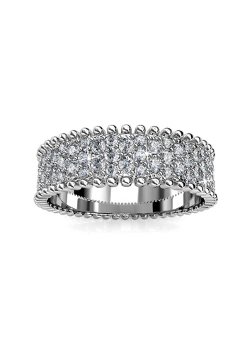 Her Jewellery silver Alexis Ring (White Gold) - Made with premium grade crystals from Austria A0CF0ACD24F925GS_1