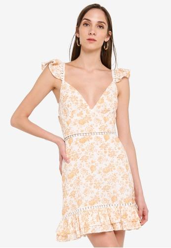 Mink Pink white and yellow Kiss The Stars Mini Dress 80C35AAEDAF800GS_1
