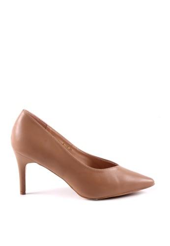 MINKA beige AVYA Khaki Pointed Heels 71A85SH66FEA55GS_1