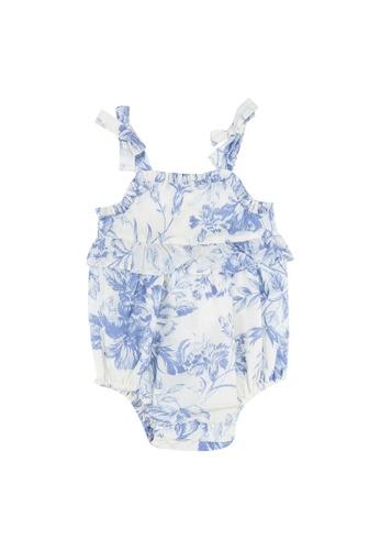 GAP white Baby Floral Bubble Bodysuit 4FA71KA7A61874GS_1