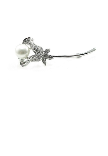 Glamorousky white Elegant Brooch with Austrian Element Crystals 07B40AC28441D4GS_1