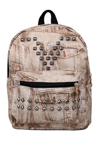 Vince brown Korean Designed Jeans BackPack ( Brown ) FL898AC58AORMY_1