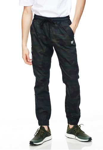Life8 綠色 Casual Camouflage Waterproof Zipper Jogger Pants -02487-Green C86DFAA29C1CE6GS_1