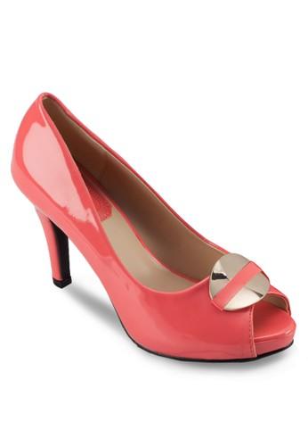 金飾魚口仿皮高跟鞋, 女esprit台灣官網鞋, 絕美洋裝