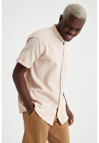 DeFacto pink Short Sleeve Cotton Shirt 6D5ABAA8B834EDGS_1