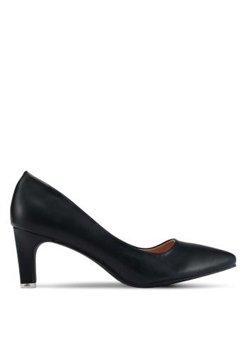 Mimosa 黑色 經典尖頭低跟鞋 F68E8SHC068B52GS_1