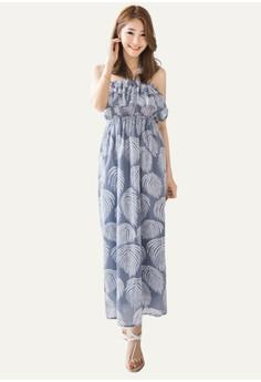 Palmy Leaves Maxi Dress