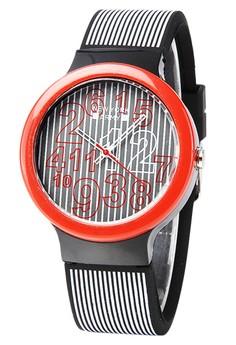 Newyork Army Numeric Stripes Silicon Watch