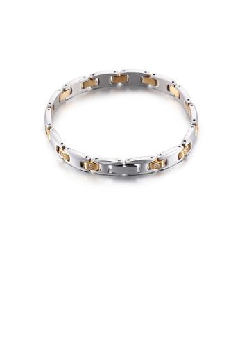 Glamorousky white Fashion and Elegant Geometric Cubic Zirconia 316L Stainless Steel Bracelet DFE26AC395E49FGS_1