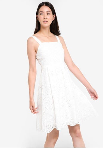 ZALORA white Broderie Summer Dress 545B8AAB08281CGS_1