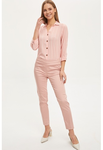 DeFacto pink Woman Trousers C7615AA8BD535CGS_1