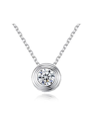 SUNRAIS gold Premium Silver S925 Gold Round Necklace 23B16AC43FFBC7GS_1