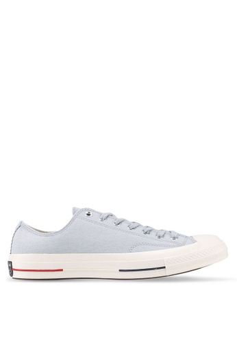 97065c5e99b1 Converse grey Chuck Taylor All Star 70 Ox Sneakers CO302SH0SW7SMY 1