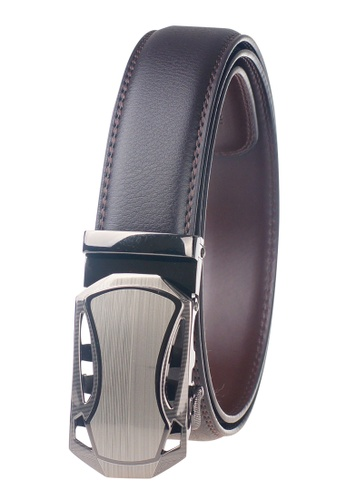 FANYU green Leather Dress Belt With Automatic Buckle CC40AACC4397CCGS_1