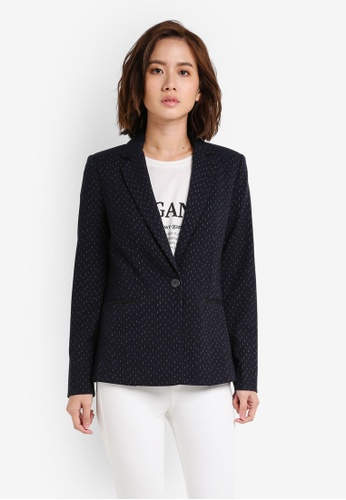 Mango blue and navy Striped Suit Blazer MA193AA0RIJ6MY_1