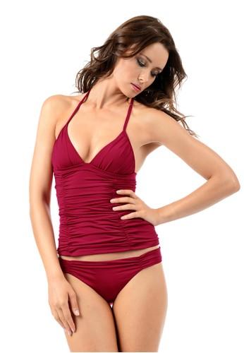 褶飾顯瘦泳裝(下半身), esprit 會員服飾, 兩件式泳衣