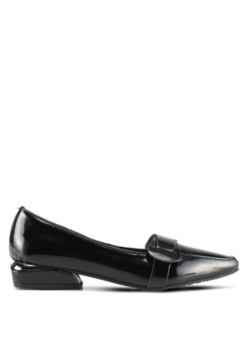 Spiffy black Retro Fashion Pointed Toes Cover Shoes BFFD4SH6DA0A3DGS_1