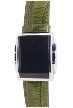 Japan Design LED Digital Watch with Japanese Cow Skin Leather Band Watch