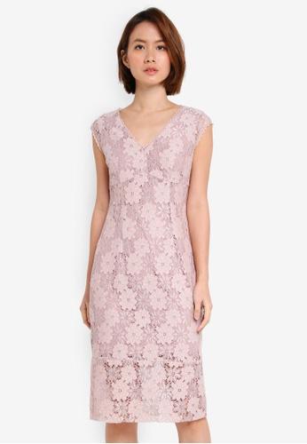 OVS blue Woven Lace Dress 8A0A6AAA089D75GS_1