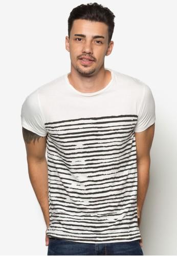 Thomas 條紋純棉TEEzalora 折扣碼, 服飾, 條紋T恤