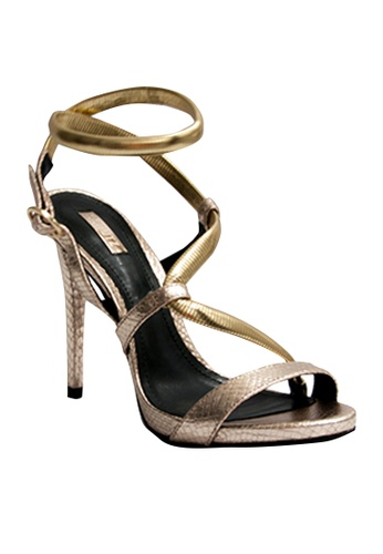 Covet gold Schutz Betina Ankle Strap Heels CO331SH94GVXPH_1