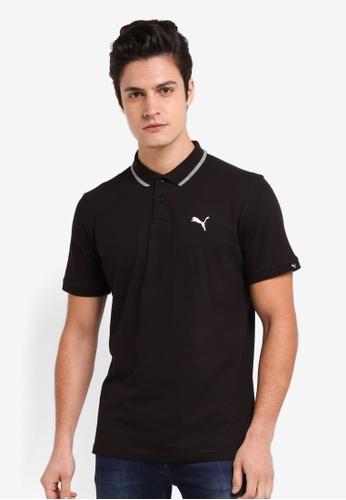 Puma black Essential Pique Sports Polo PU549AA0SWJSMY_1