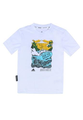 ADIDAS white aaron kai x graphic t-shirt D243AKA8DF2ADCGS_1